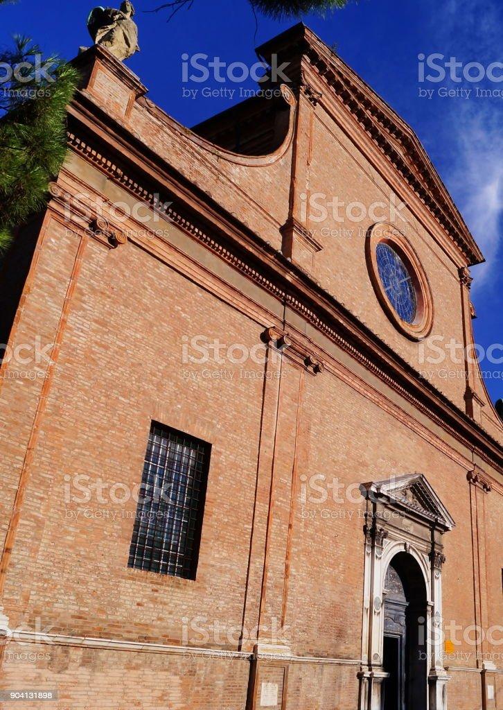 Santa Maria in Vado basilica, Ferrara stock photo