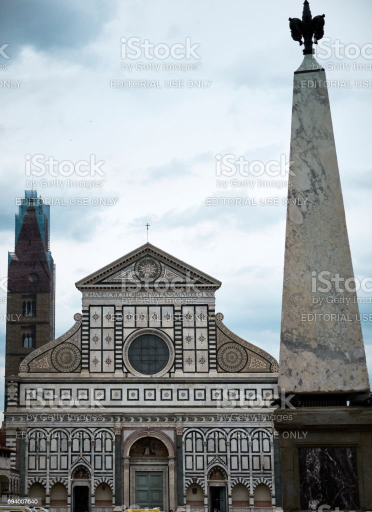Santa Maria Novella church stock photo