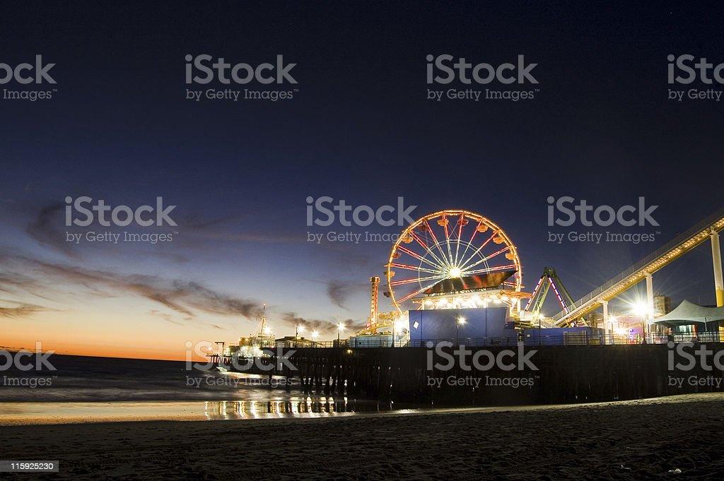 Santa Monica at Twilight stock photo