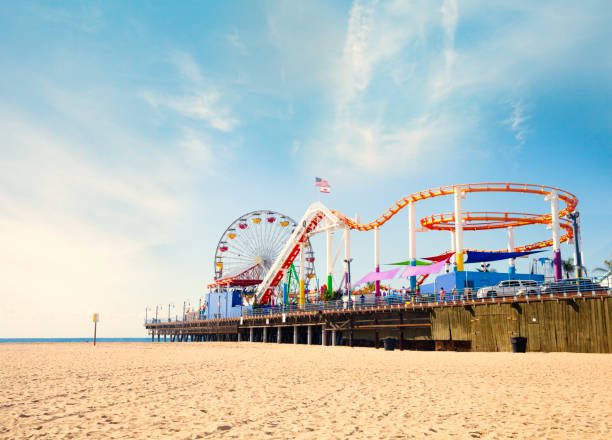 Santa Monica Strand und Pier – Foto