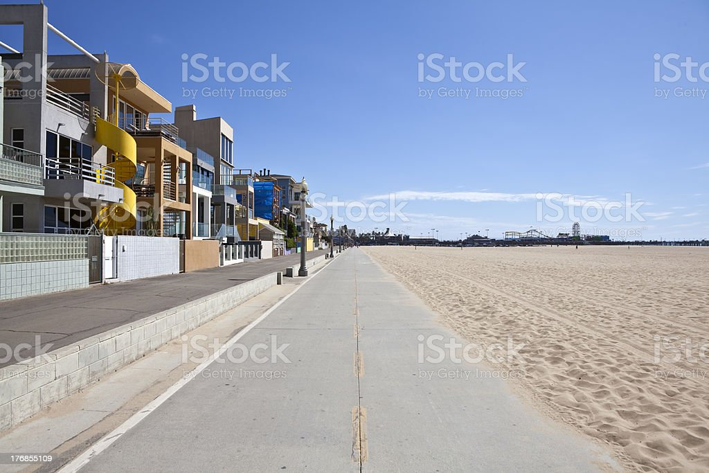 Santa Monica Beach Bike Path royalty-free stock photo