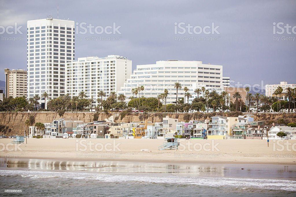 Santa Monica Beach Front stock photo