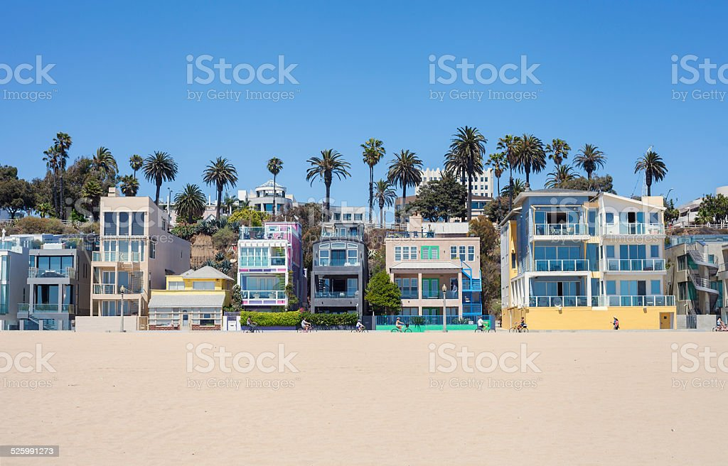 Santa monica beach houses stock photo istock for House for sale in santa monica