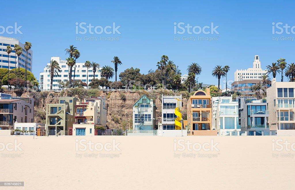 Santa Monica Beach Houses stock photo