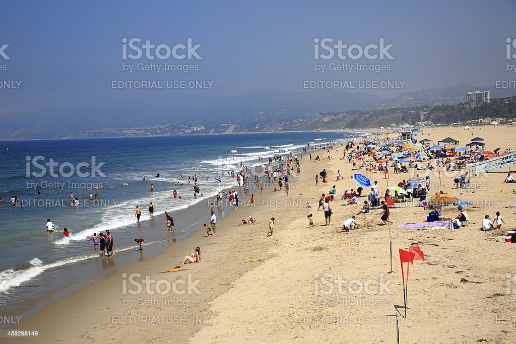 Santa Monica Beach royalty-free stock photo