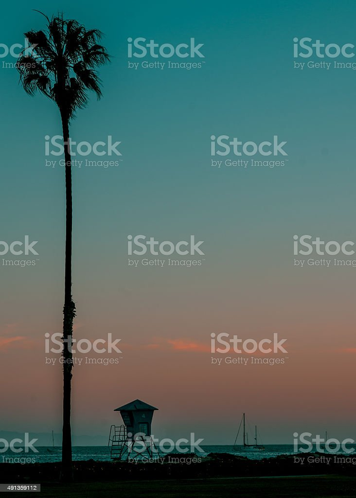 Santa Monica Beach royalty-free stock photo