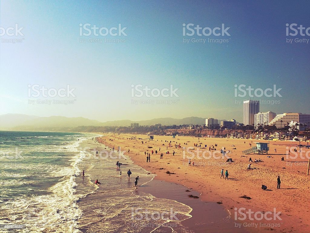 Santa Monica Beach stock photo