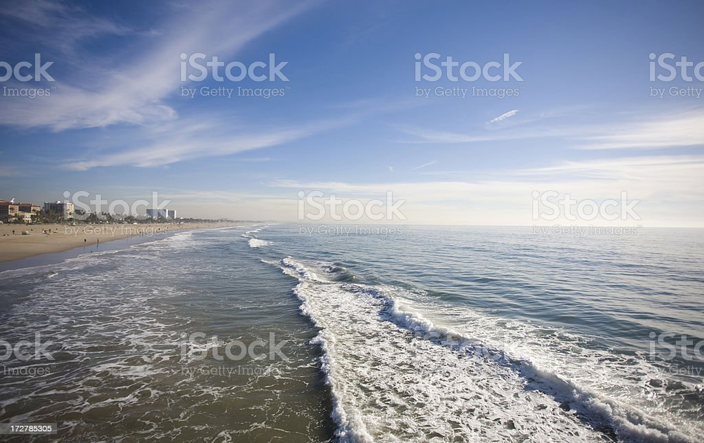 Santa Monica Beach With Clear Sky's royalty-free stock photo