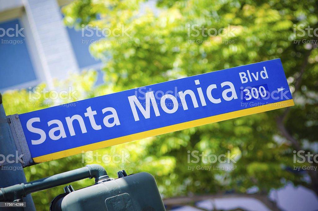 Santa Monica Blvd sign stock photo