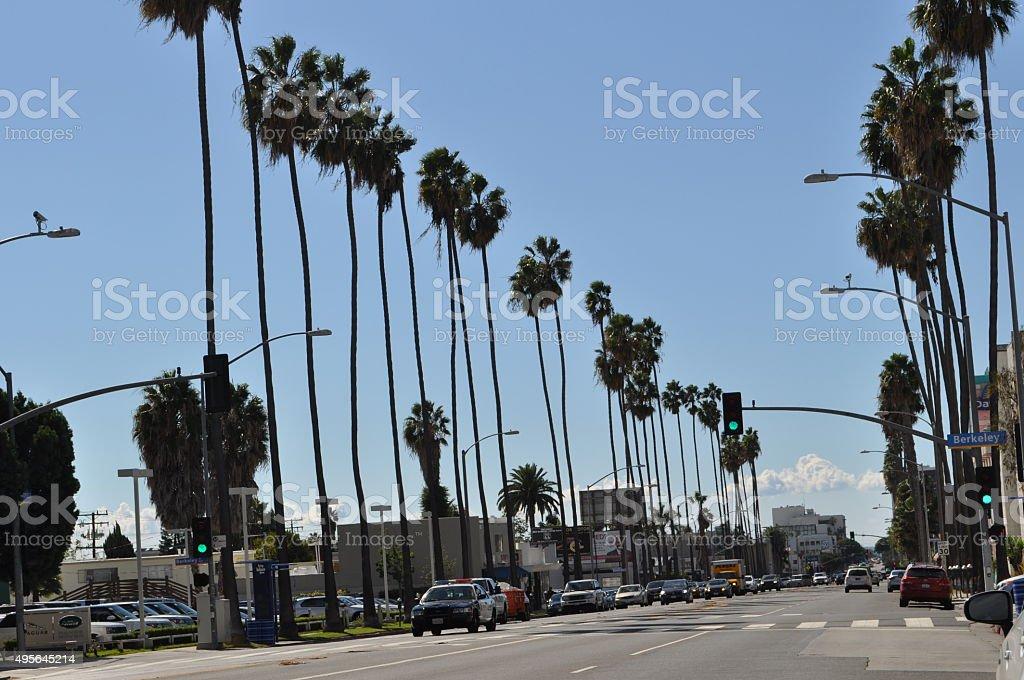 Santa Monica Boulevard stock photo