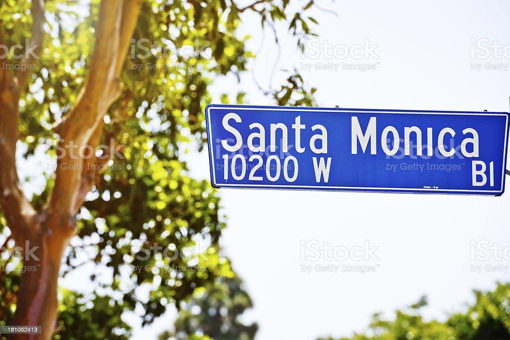 Santa Monica Boulevard Sign stock photo