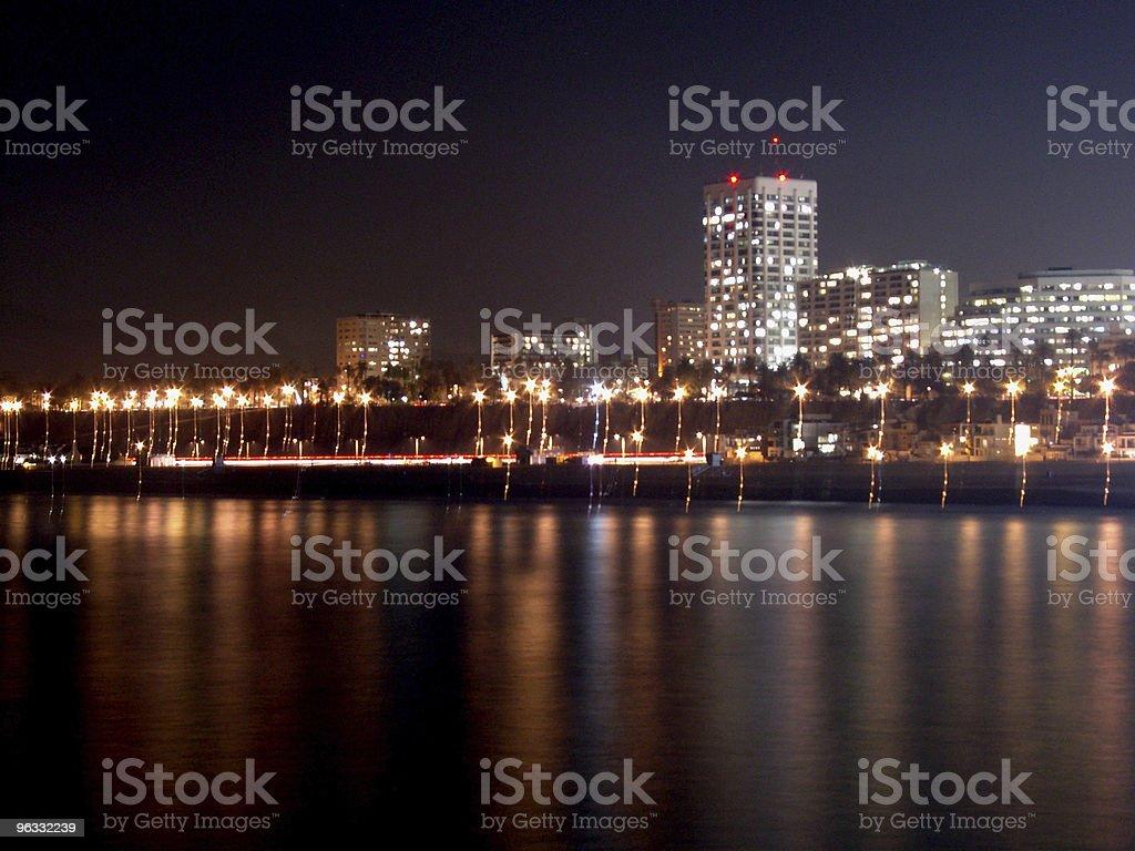 Santa Monica by night royalty-free stock photo