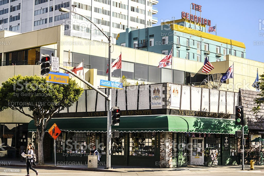 Santa Monica Downtown, USA stock photo