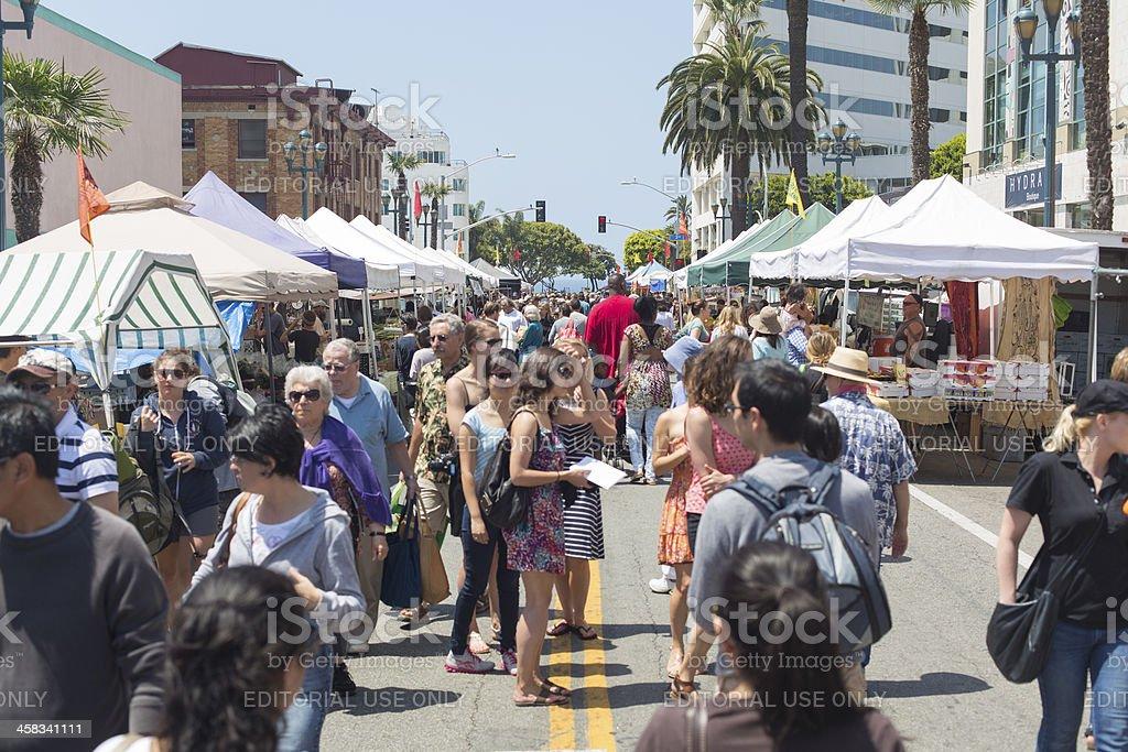 Santa Monica Farmers Market stock photo