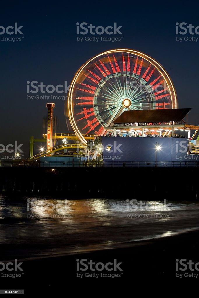 Santa Monica Ferris Wheel royalty-free stock photo