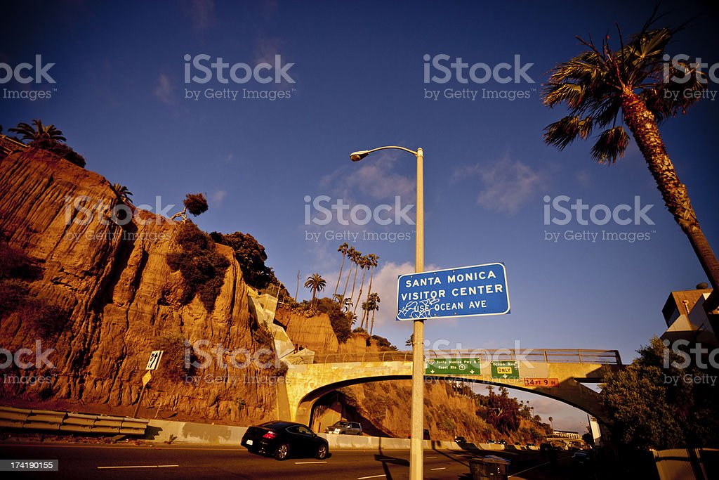 Santa Monica Freeway stock photo