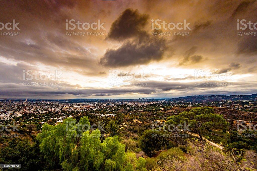 Santa Monica Hills to LA foto royalty-free