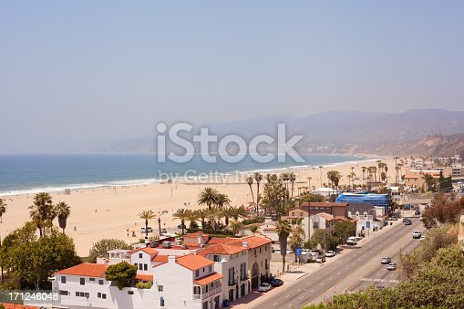 Santa Monica houses and  PCH highway
