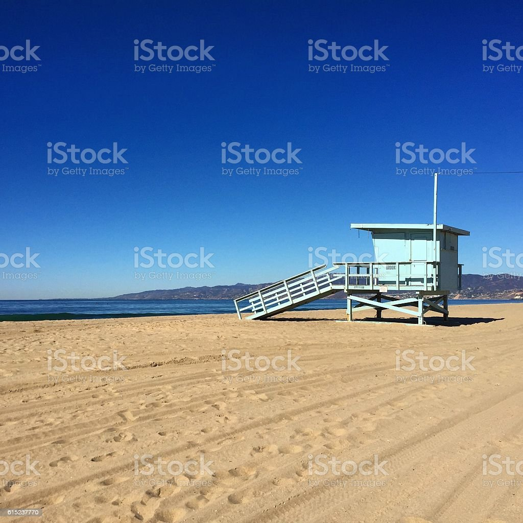 Santa Monica Lifeguard Tower stock photo