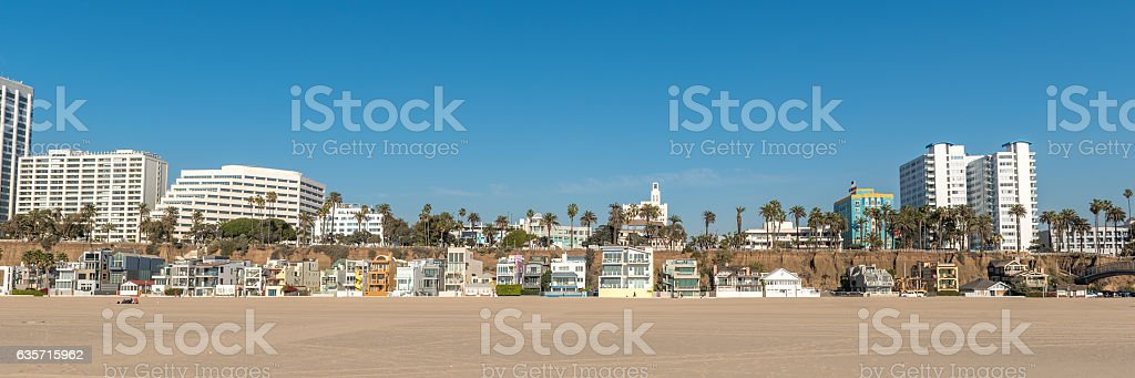 Santa Monica panorama royalty-free stock photo