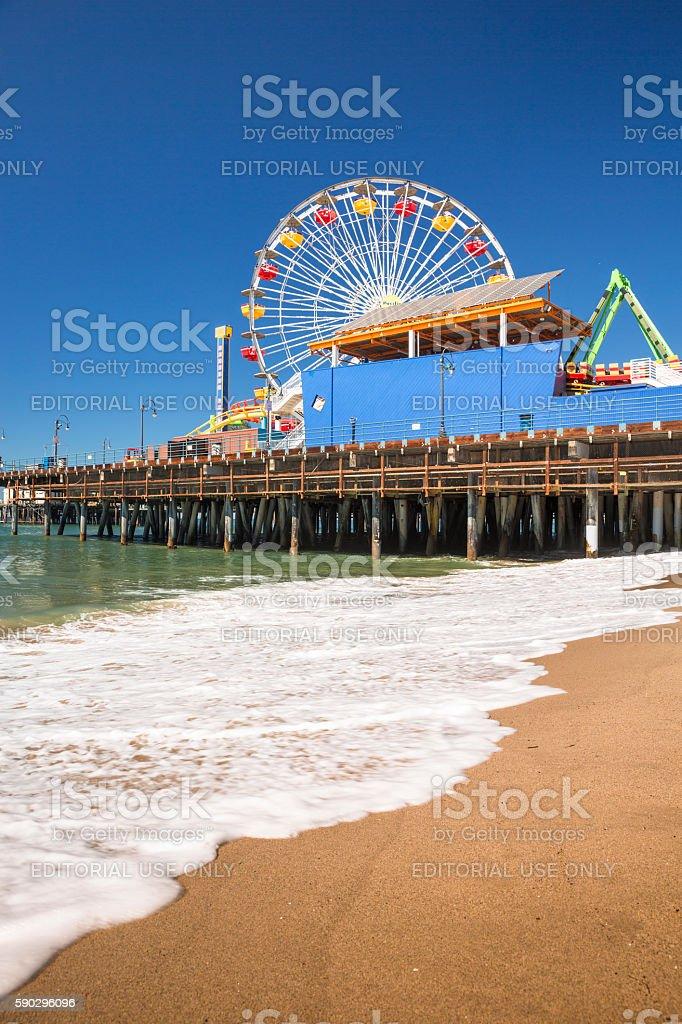 Причал Санта-Моника, Калифорния Стоковые фото Стоковая фотография