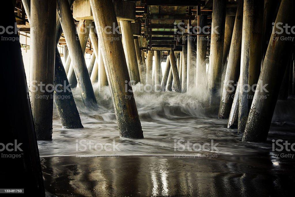 Santa Monica Pier From Below royalty-free stock photo
