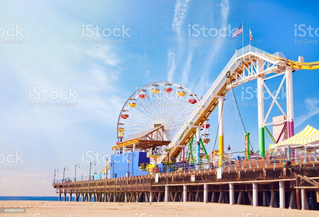 Santa Monica Pier in California stock photo