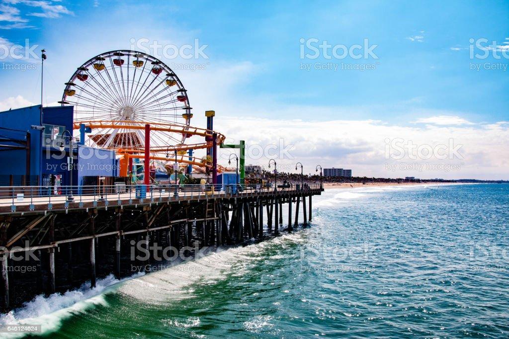 Santa Monica Pier in Los Angeles, United States stock photo