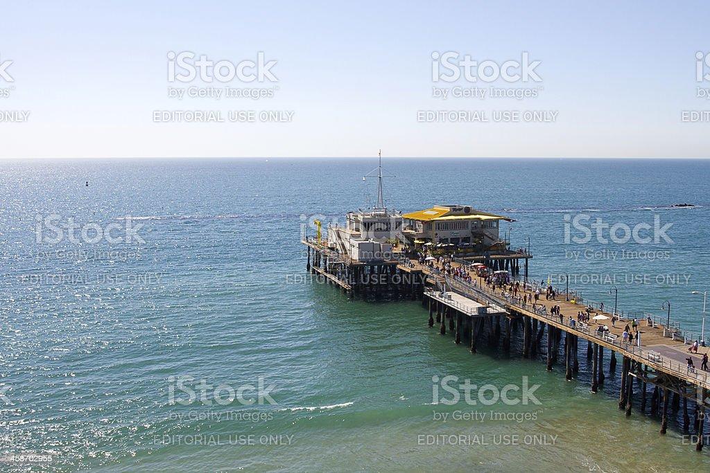 Santa Monica Pier On Pacific Ocean royalty-free stock photo