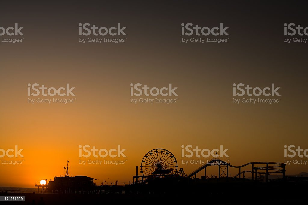 Santa Monica Pier royalty-free stock photo