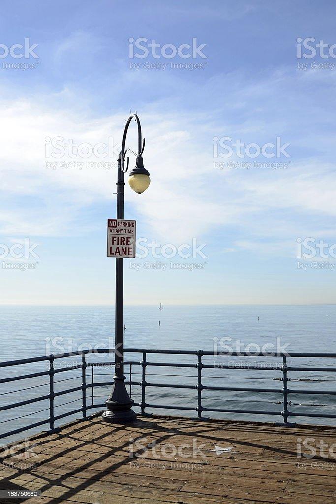 Santa Monica Pier royalty-free stock photo