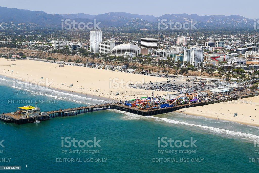 Santa Monica Pier stock photo