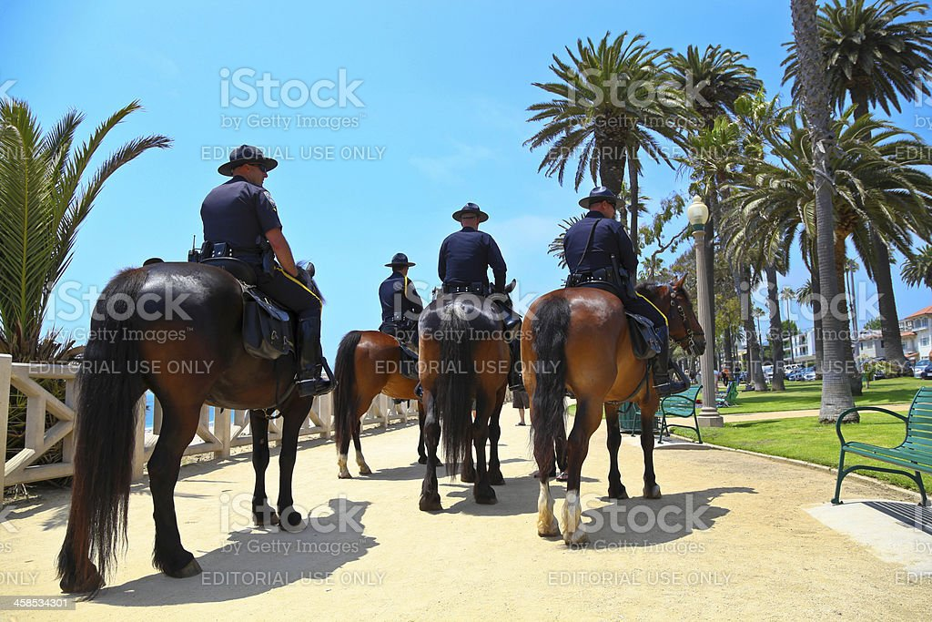 Santa Monica Police Department royalty-free stock photo