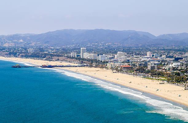 santa monica state beach - venice beach in kalifornien stock-fotos und bilder