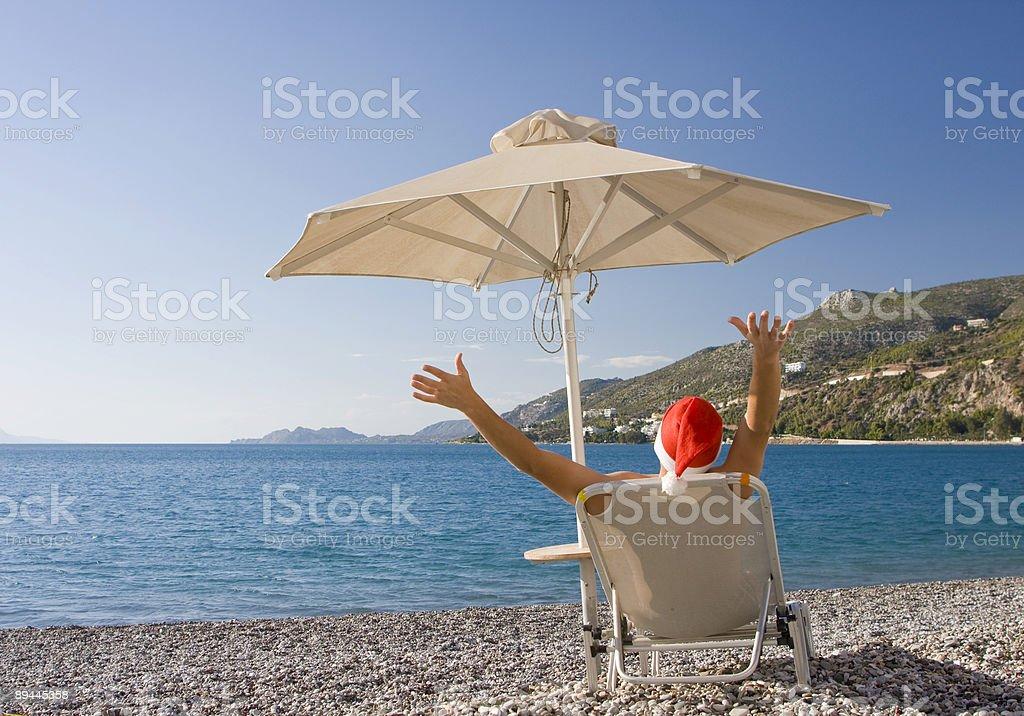 Santa en vacances photo libre de droits