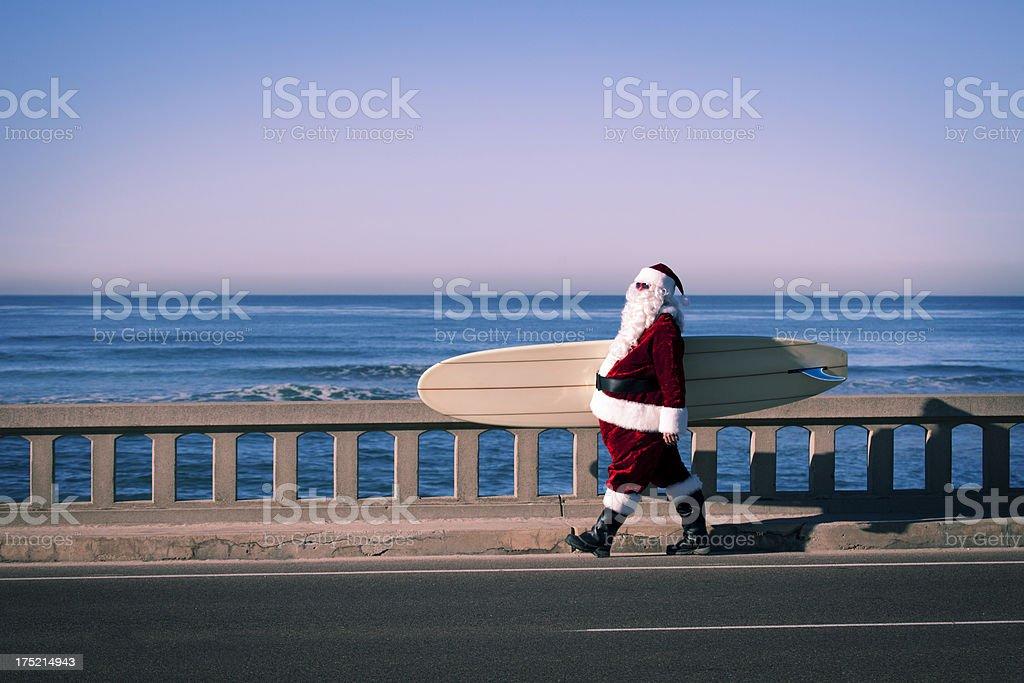 Santa on Vacation stock photo