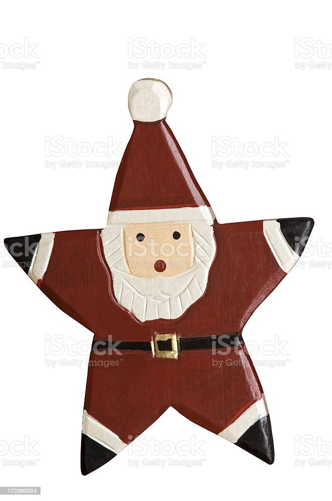 Santa Ornament in Shape of Star royalty-free stock photo