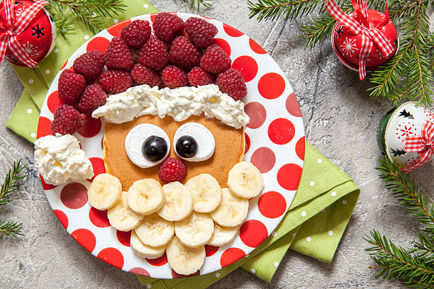 Santa pancake with raspberry for kid breakfast picture id613865552?b=1&k=6&m=613865552&s=612x612&w=0&h=ihp80onwswblvpnk5rqsd1epn0weq5kehhyjnk7txje=