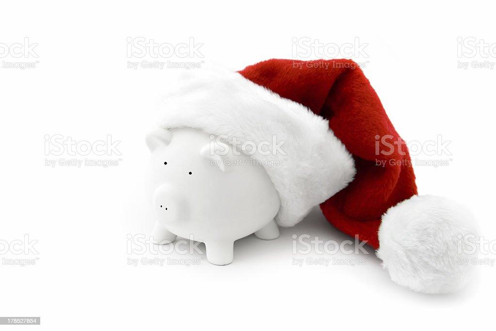 Santa piggy royalty-free stock photo