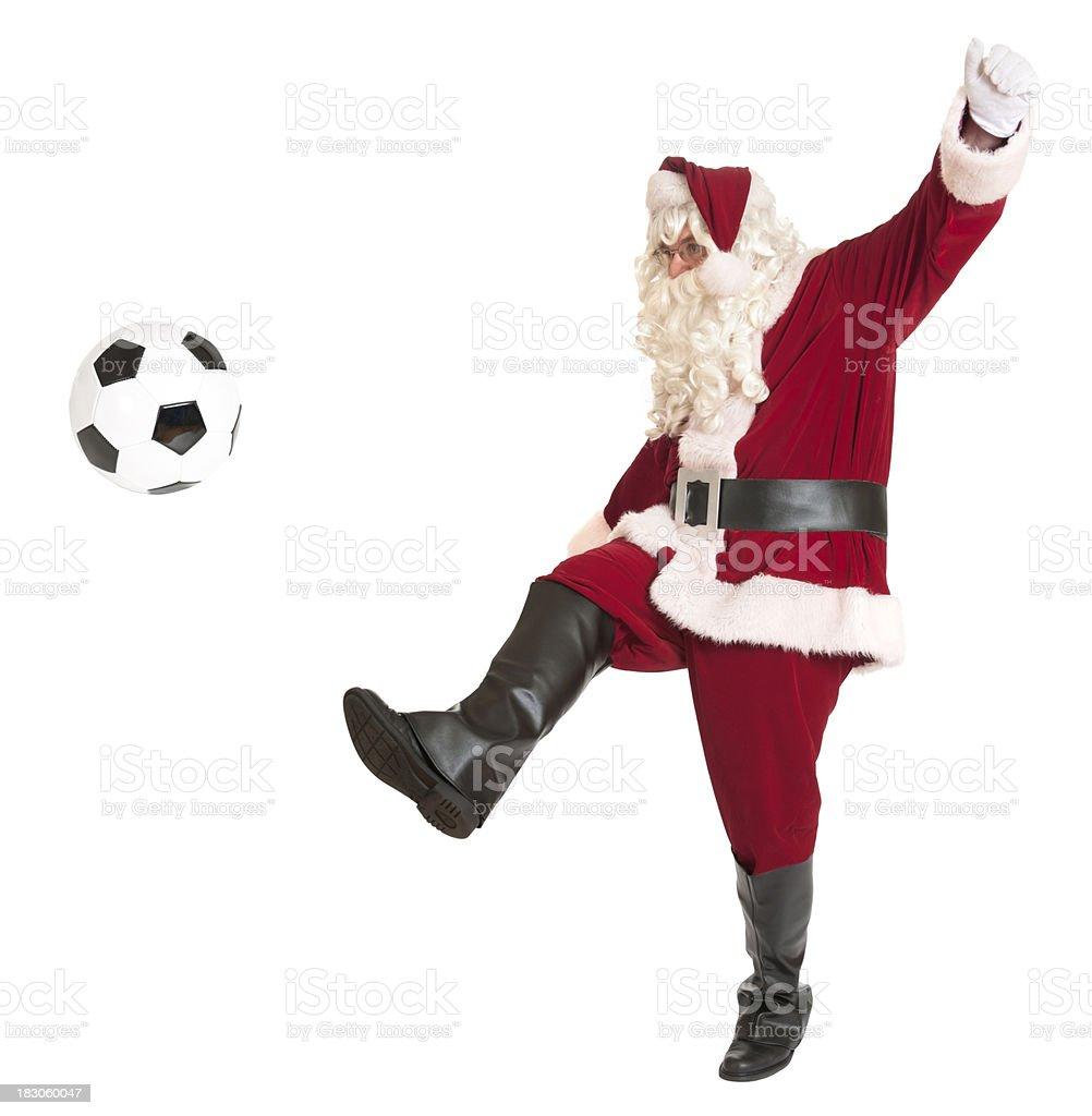 Santa playing soccer sports series stock photo more