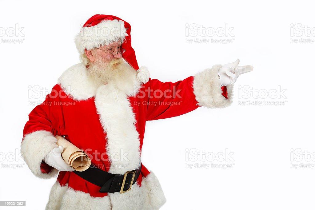 santa pointing royalty-free stock photo
