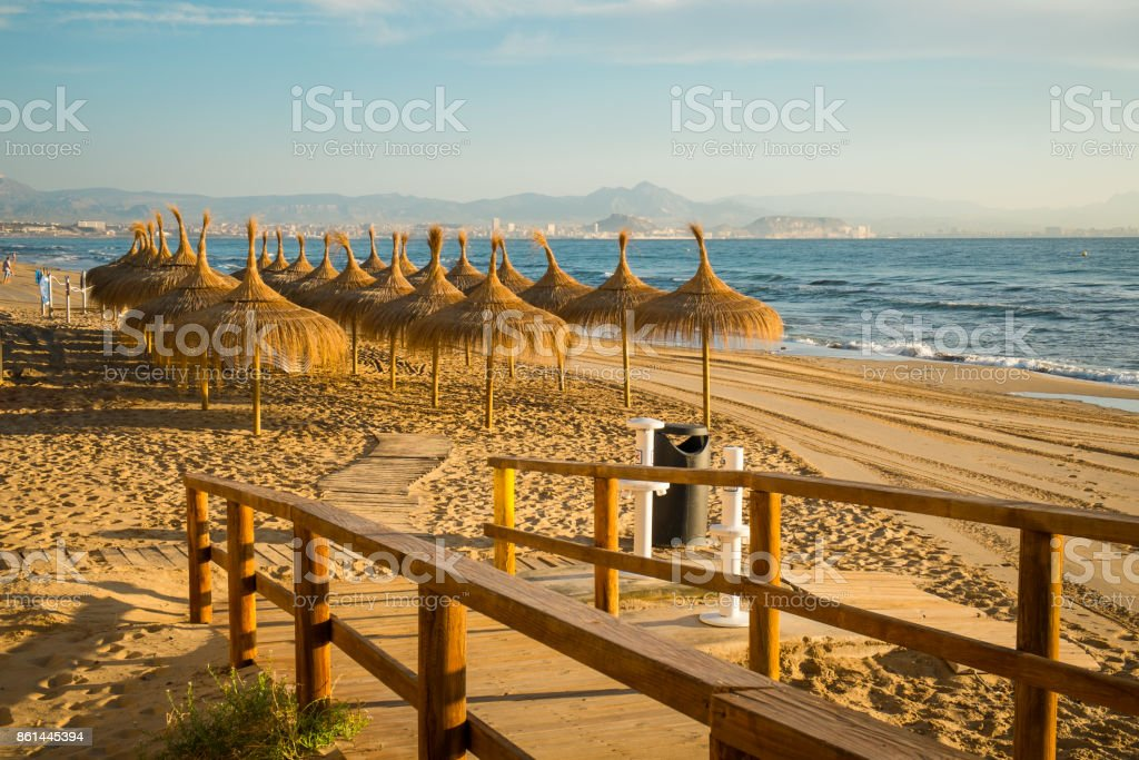 Santa Pola Beach stock photo