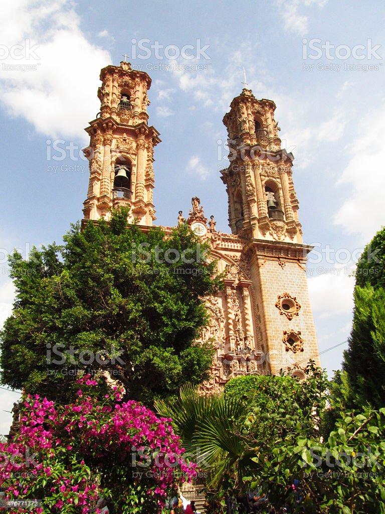 Santa Prisca Church in Taxco, Guerrero, Mexico stock photo