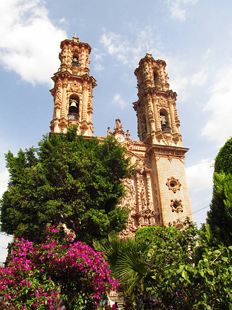 Santa Prisca Church in Taxco, Guerrero, Mexico stock photo