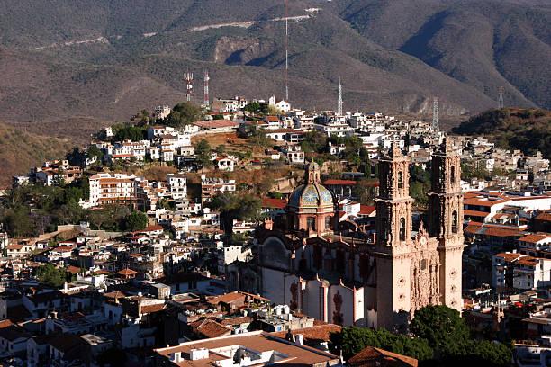 Santa Prisca de Taxco, Taxco, Mexico stock photo