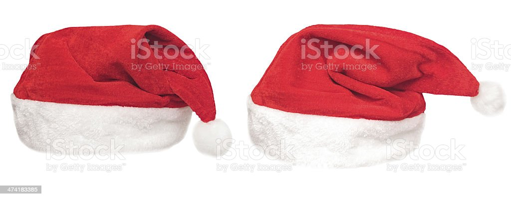 Santa red hat isolated in white background royalty-free stock photo