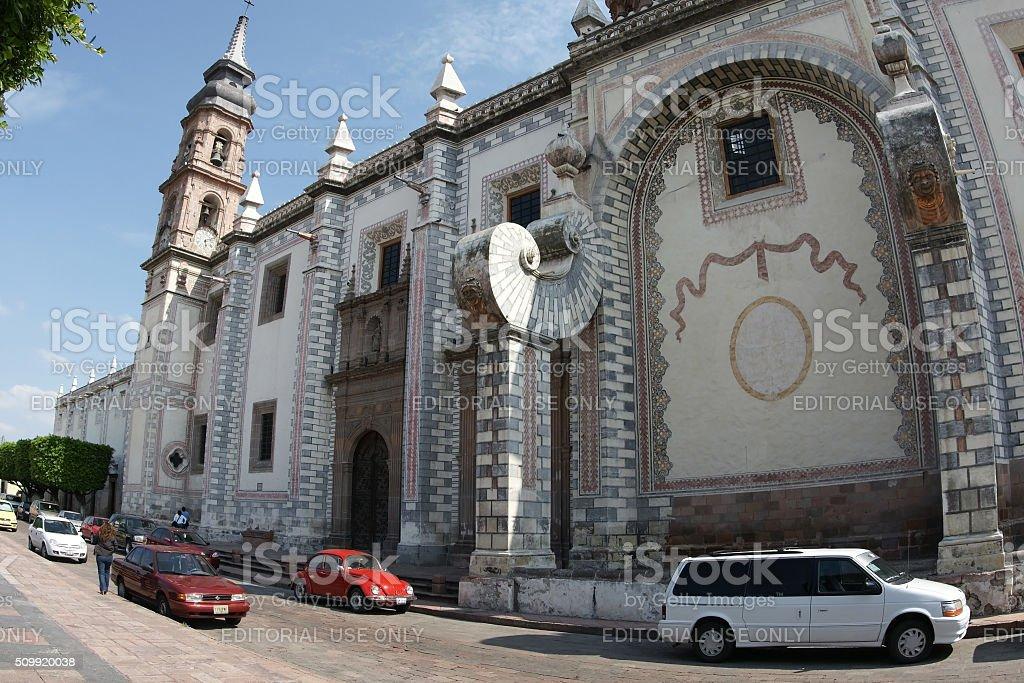 Santa Rosa de Viterbo church at Queretaro, Mexico stock photo