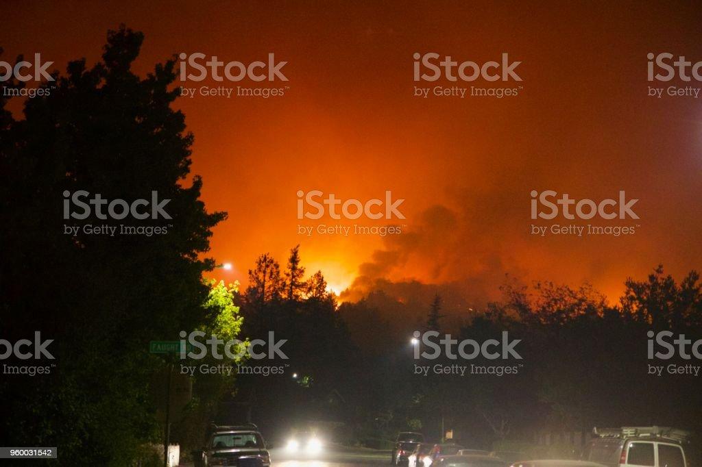 Santa Rosa - Shiloh Regional Park after Fire, night from Sunday...
