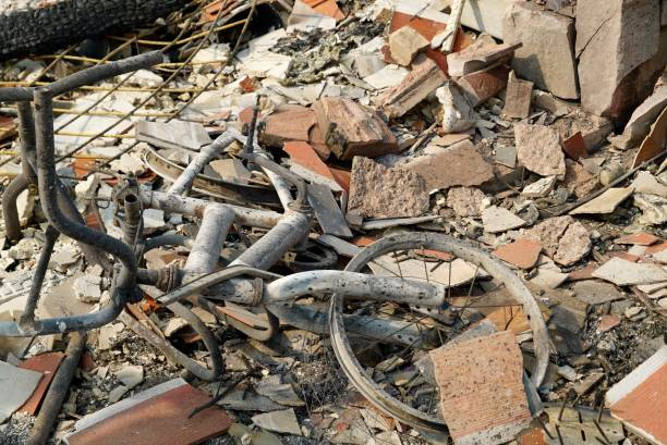 Santa Rosa Tubbs Fire Fountaingrove neighborhood devastation stock photo