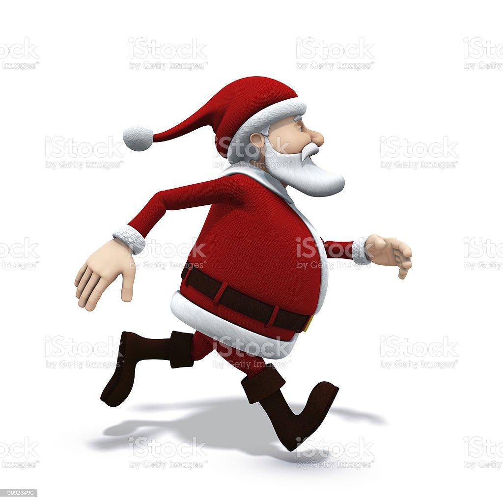 santa running royalty-free stock photo